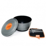 Esbit 2.35 Litre Camping Cook Pot with Heat Exchanger, Lid, Hot Pad, Pot Gripper and Storage Bag