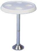 Todd Enterprises Table Top Only Round White