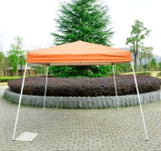 Outsunny 10' x 10' Slant Leg Easy Pop-Up Canopy Party Tent - Rust Red