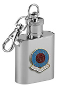 Football Club Keyring Flasks-Aston Villa Football Club 30ml Keyring Hip Flask