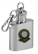 Football Club Keyring Flasks-Hibernian 'Hibs' Football Club 30ml Keyring Hip Flask