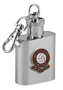 Football Club Keyring Flasks-Manchester United 'The Red Devils' Football Club 30ml Keyring Hip Flask