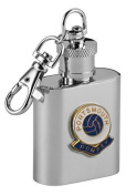 Football Club Keyring Flasks-Portsmouth 'Pompey' Football Club 30ml Keyring Hip Flask