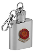 Football Club Keyring Flasks-York City 'The Robins' Football Club 30ml Keyring Hip Flask