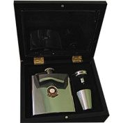 Football Club Hip Flasks-Manchester United 'The Red Devils' Football Club 180ml Hip Flask Gift Set