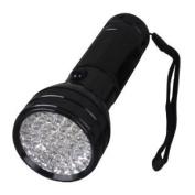 51 LED Uv Ultra Violet Blacklight Flashlight Torch Light Middle Switch 3aaa Battery