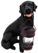 Black Labrador Retriever Solar Garden Light Dog Lab