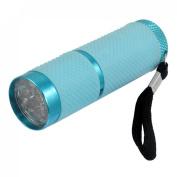 Amico Camping Hiking 9 White LEDs Light Hand Pressing Flashlight String
