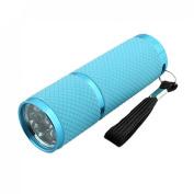 Amico 9 LED White Light Portable Handy Flashlight Torch Blue