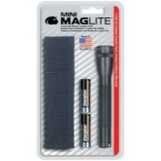 Mag-Lite M2A01H 2-AA Mini MagLite Flashlight with Holster - Black