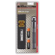 Maglite SP2P09H Mini PRO LED 2Cell AA Flashlight, Grey