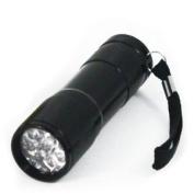 Ultraviolet UV 9 LED Super Bright Compact Flashlight