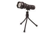 True Utility TU86 FlyEye 7 TripodLite Wide Beam Lens Flashlight With Tripod, Black