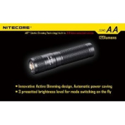 Nitecore SENS Mini LED Flashlight w/ Active Dimming, Black, 120 Lumens, Uses AA NITECORE-SENS-AA