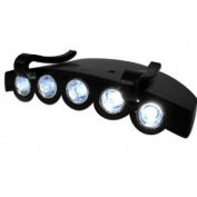 XtremepowerUS 5 LED Clip On Cap Light Headlamps - Black