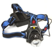 1200Lm CREE XM-L T6 LED Zoomable Headlamp Adjust Focus Headlight