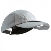 Powercap SCUB-4010 Panther Vision 4 LED Solar Powered Microfiber Hat, Grey