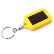 Solar Energy Mini Flashlight Torchlight Yellow
