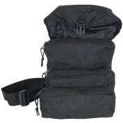Black - No Caduceus Trifold Medical Bag & First Aid Kit