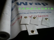 2.7m x 2.7m Tyvek Ground Sheet or Tarp with 8 Adhesive Grommet Tabs From Campcovers