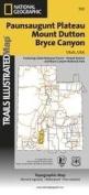 National Geographic TI00000705 Map Of Paunsaugunt Plateau-Mount Dutton-Bryce Canyon Trail - Utah