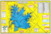 Laminated Topo Map of Fayette County Lake - With GPS Hotspots