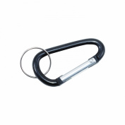 Advantus Carabiner Key Chain with Split Key Ring, Black, 10 Key Chains/Pack