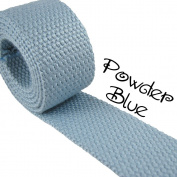 1 Yard Cotton Webbing - 3.2cm Medium Heavy Weight - Powder Blue