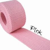 5 Yard Cotton Webbing - 3.2cm Medium Heavy Weight -Pink
