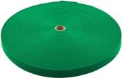 1.6cm 100 Yards Kelly Green Heavy Polypro Webbing