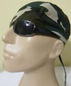 Camouflage Print Design Doo Rag Durag, Bikers Cap/ Head Wrap/ Skull Cap/ Bandana Wrap