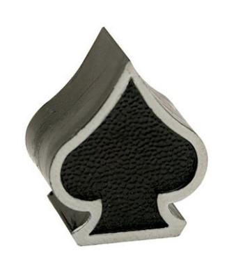 Trik Topz Spade Valve Caps pr. Black