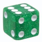 Trik Topz Dice Valve Caps Pair Green Glitter