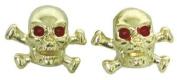 Gold Skull and Crossbones Custom Valve Caps
