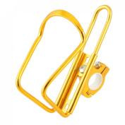 Como Gold Tone Metal Drink Water Bottle Holder Cage Rack for Bike