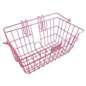 Sunlite Lift-Off Front Basket - 36.8cm x 21.6cm x 17.8cm , Pink