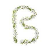 Basil Decorative Flower Garland White