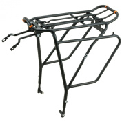 Ibera PakRak Bicycle Touring Carrier Plus+ IB-RA5 (with disc brake mounts) Frame-mounted for heavier top & side loads