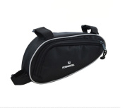 Black Bike Bicycle Triangle Nylon Saddle Frame Tube Bag NEW