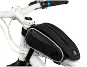 Bicycle Bike Frame Pannier Front Tube Bag with Rain Cover
