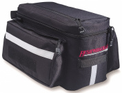 Bushwhacker Mesa Trunk Bicycle Rack Bag Black - Rear Light Clip Attachment & Reflective Trim