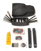 Multi Function Bike Multitool Bicycle Tool Patch Kit & Tyre Levers 16 Function