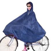 Adult Bicycle Bike Raincoat Blue Terylene Hooded Poncho