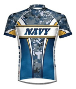 Primal Wear Navy Eleven Camo Cycling jersey Men's Short Sleeve 4XL