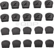 Lazer Thin Strap Dividers, Black, Bag of 20