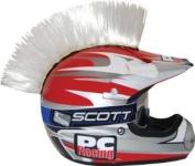 Pc Racing Helmet Mohawks White hook and loop