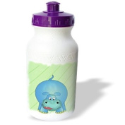 777images Designs Cartoons - Cute cartoon of the zoo animal the baby Hippo ( hippopotamus ). - Water Bottles