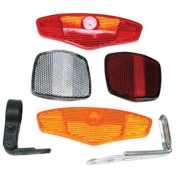 Sunlite 4 Piece Bicycle Reflector Set with Brackets