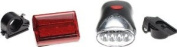 2 Pc Bicycle Safety Light Set for Front and Back