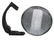Sunlite Round Front (White) Bicycle Reflector with Bracket